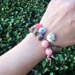 Flora Japonica Statement Bracelet